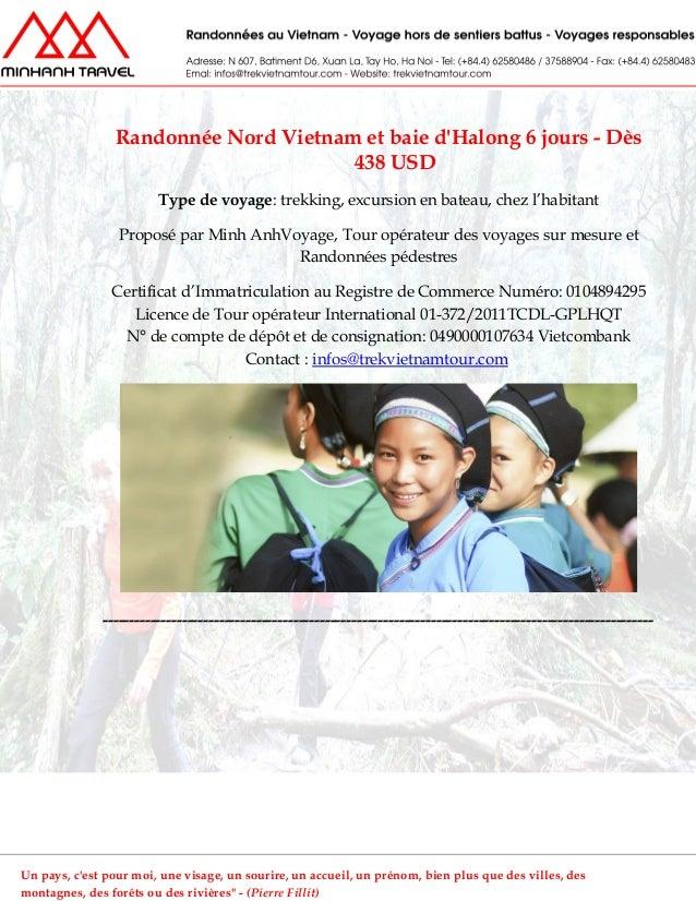 Randonnée Nord Vietnam et baie dHalong 6 jours - Dès438 USDType de voyage: trekking, excursion en bateau, chez l'habitantP...