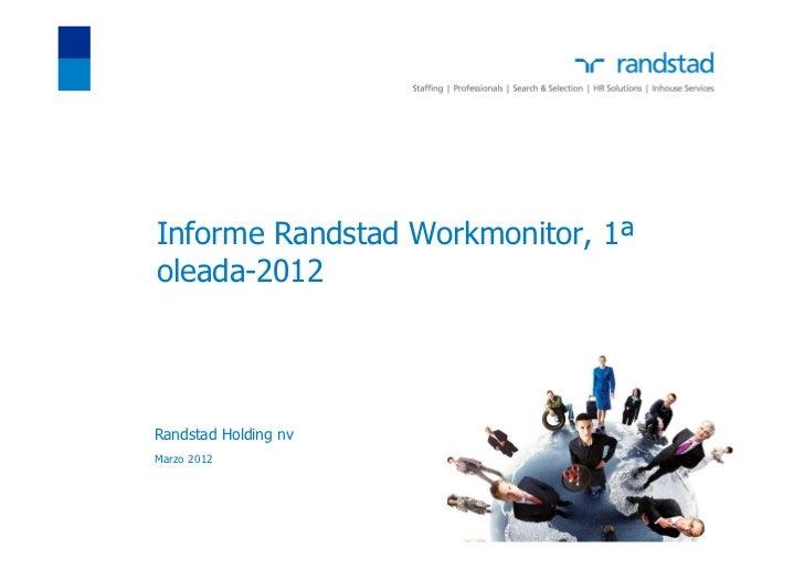 Informe Randstad Workmonitor, 1ªoleada-2012Randstad Holding nvMarzo 2012