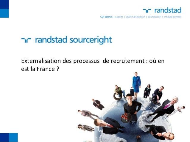 Externalisation des processus de recrutement : où enest la France ?