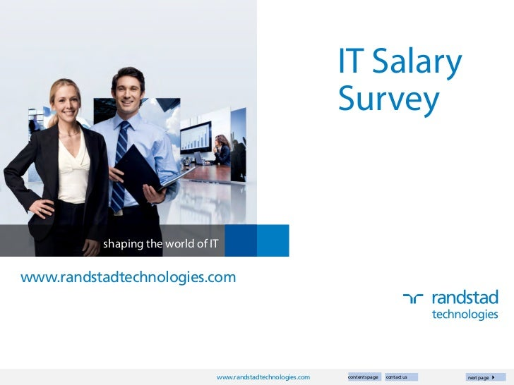 IT Salary                                                               Survey          shaping the world of ITwww.randsta...