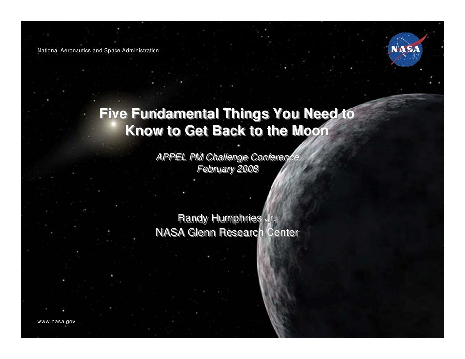 National Aeronautics and Space AdministrationNational Aeronautics and Space Administration                      Five Funda...