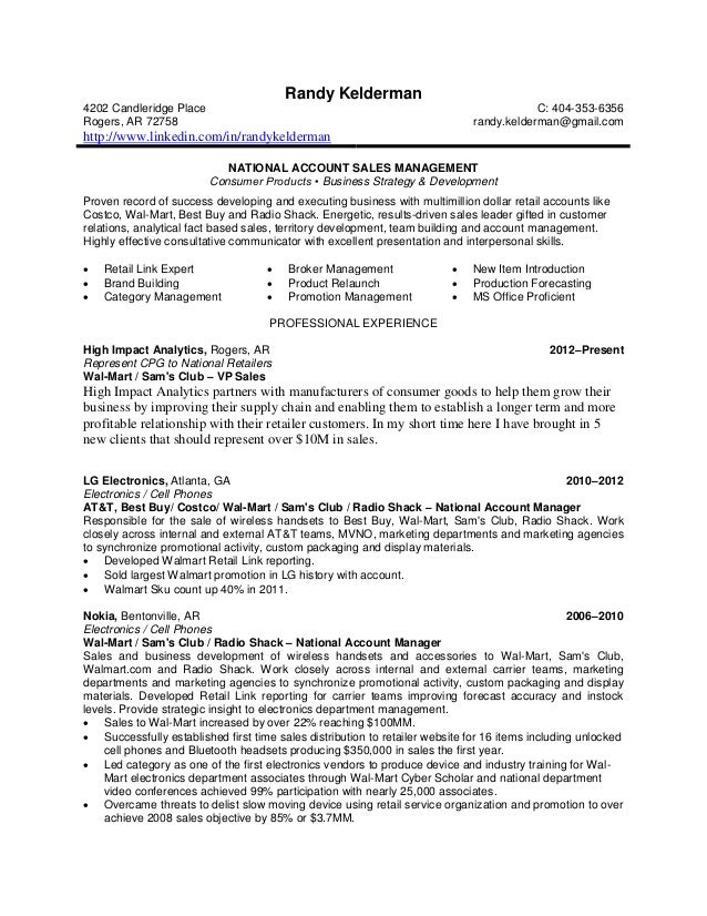 Randy Kelderman Resume Nam V