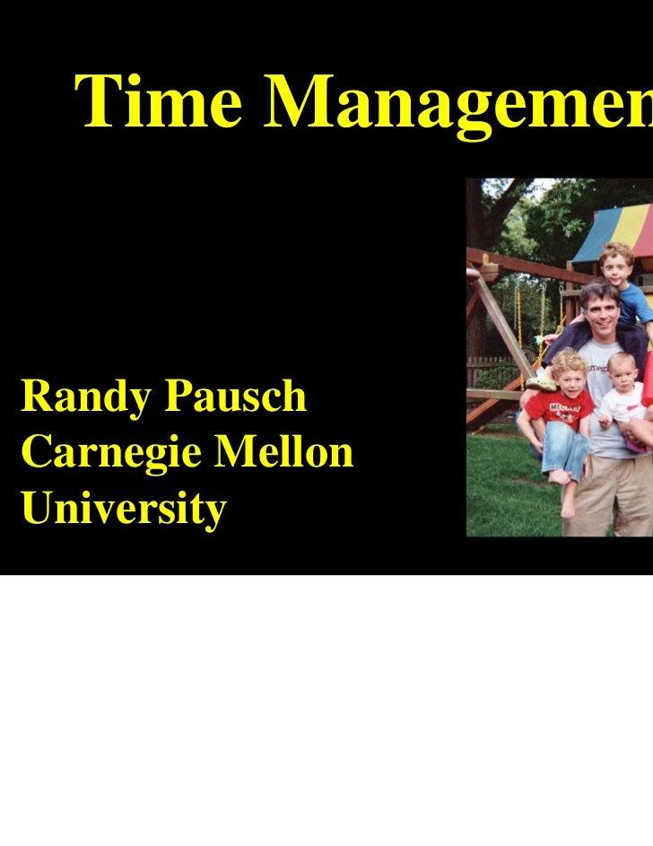 Randy pauschtimemanagement2007