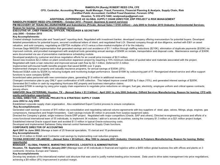 Sample Resume Cfo. Vice President Sales Sample Resume Vp Sales ...