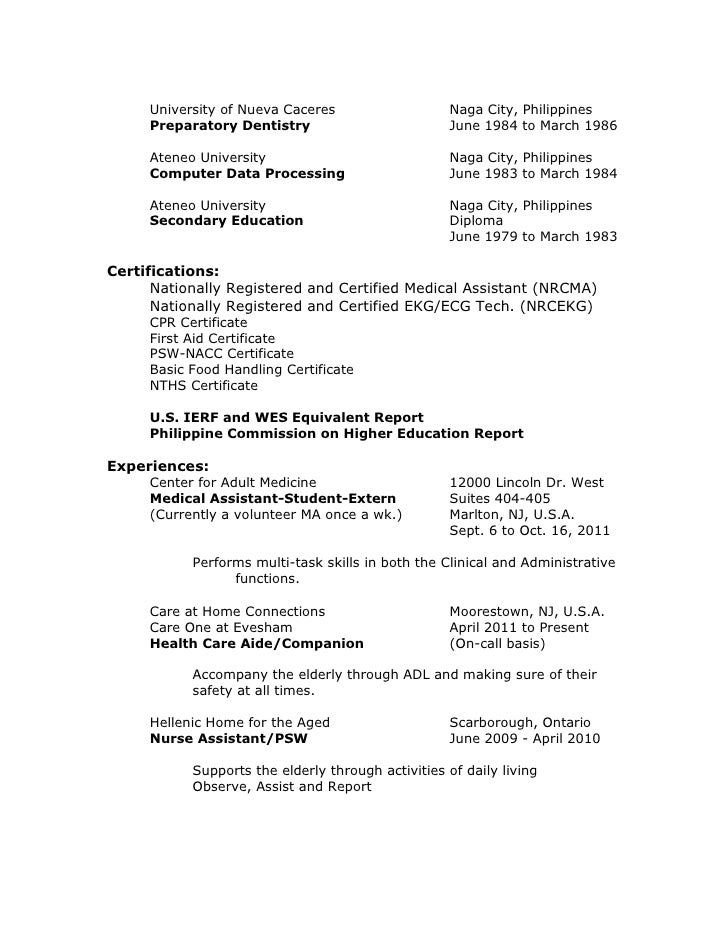 sample psw resume personal support worker sample resume ...