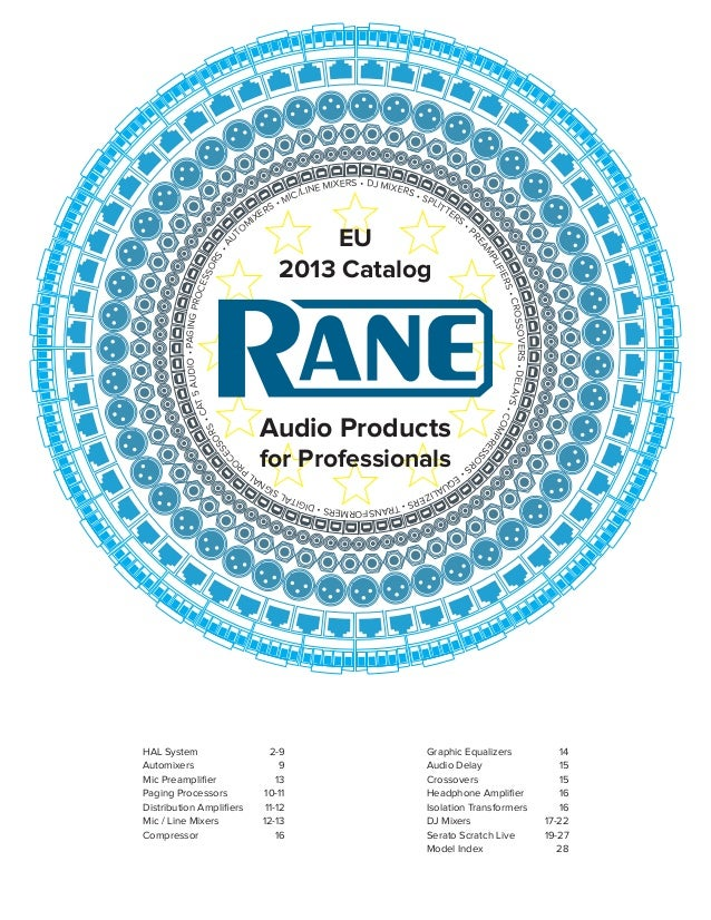 Rane full line catalog 2013 eu