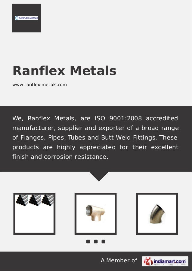 Pipes & Tubes by Ranflex metals