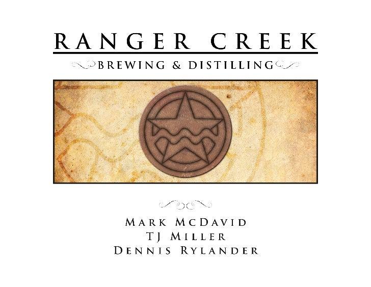 Ranger Creek Overview - AMA San Antonio