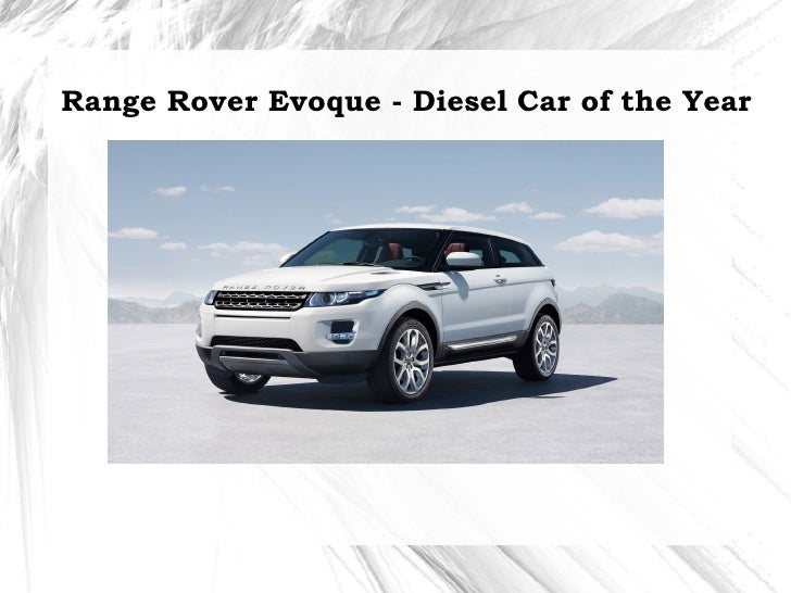 Land Rover Range Rover Evoque - Diesel car of the year