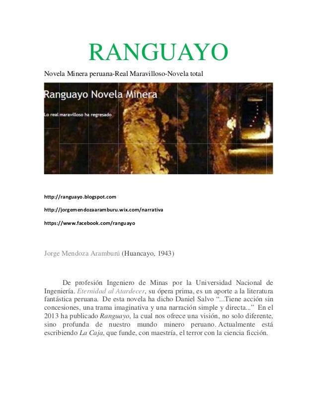 RA GUAYO ANG AY Nove Minera peruana-R Marav ela Real villoso-Nov total vela  http:// /ranguayo.blogspot.com http:// /jorg...