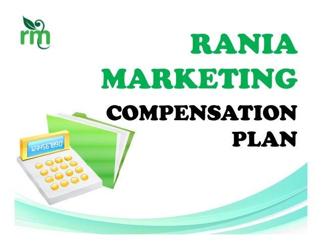 RANIA MARKETING COMPENSATION PLAN
