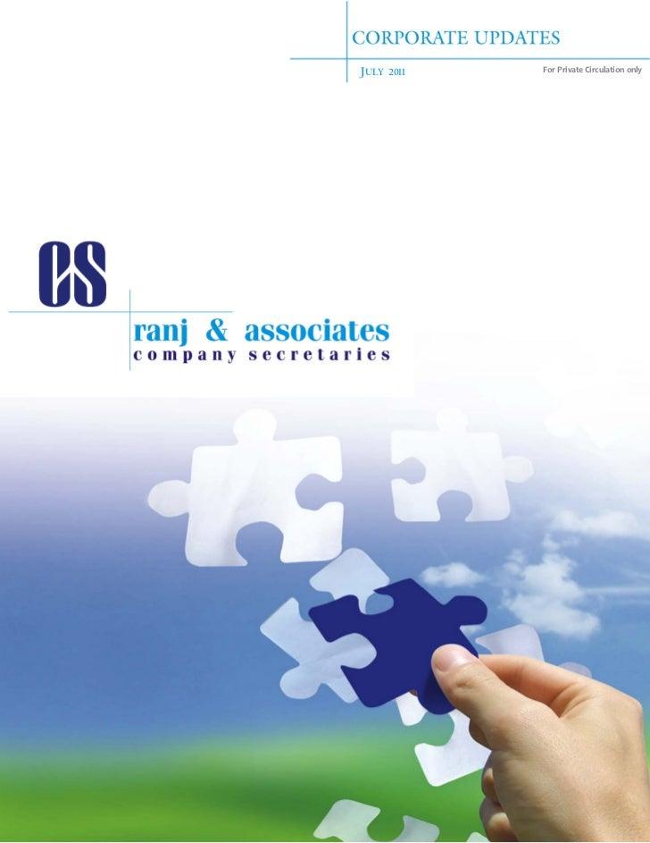 RANJ corporate updates july 2011