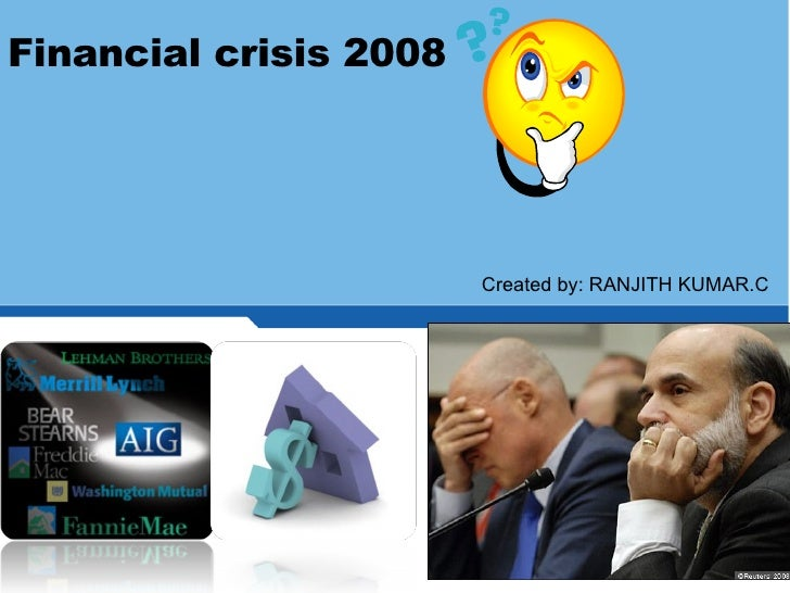imapct of financial crisis and role of financial institutions in this crisis