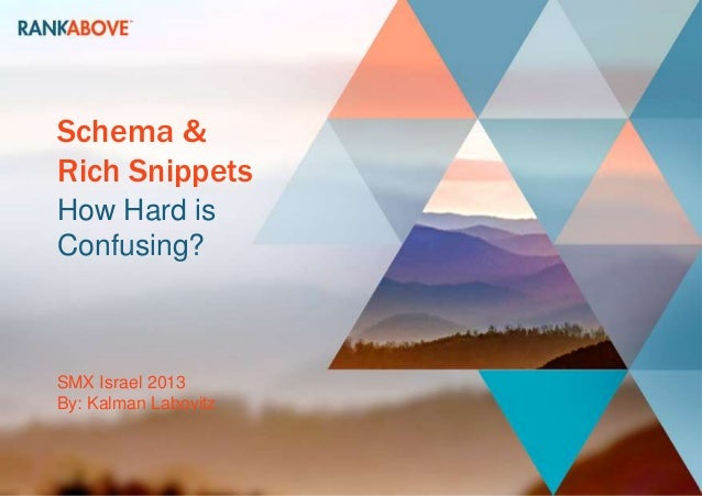 Rank above   smx israel 2013 - schema & rich snippets