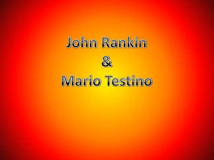 John Rankin & Mario Testino