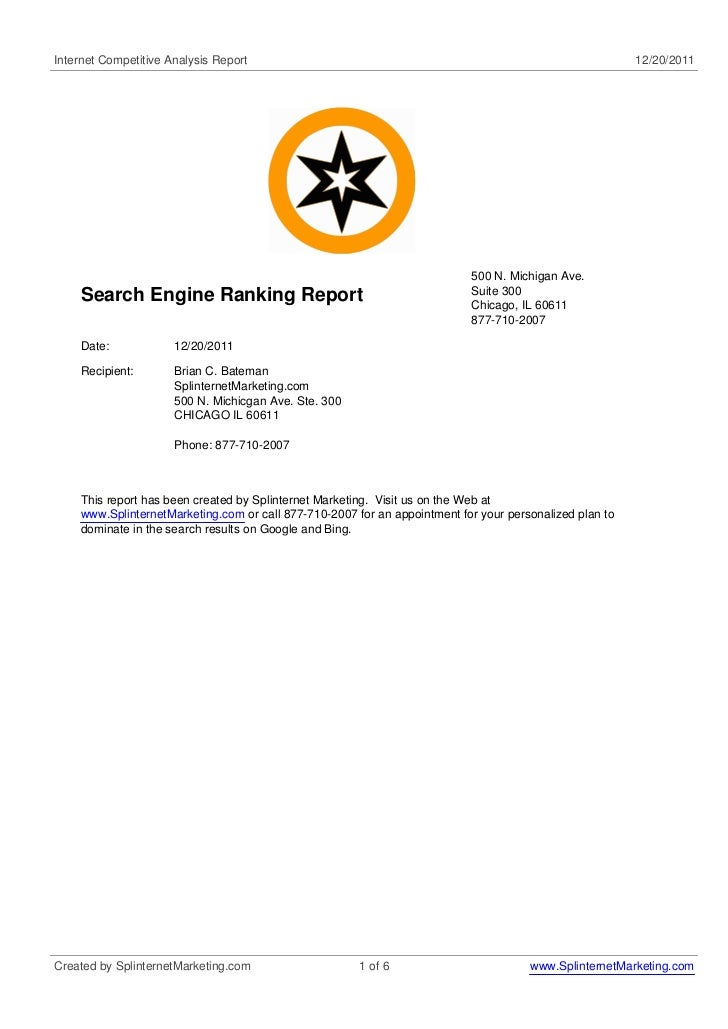 Internet Competitive Analysis Report                                                                     12/20/2011       ...