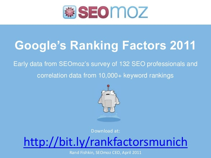 SMX Munich Keynote: Moz Ranking Factors