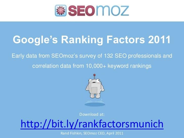 SMX Munich Keynote: Moz Ranking Factors