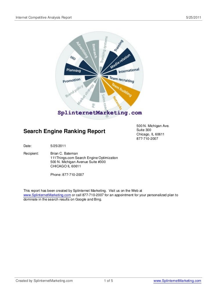 Ranking analysis   competitors rankings are really the links to our profiles which link to target sites 10 days first listings