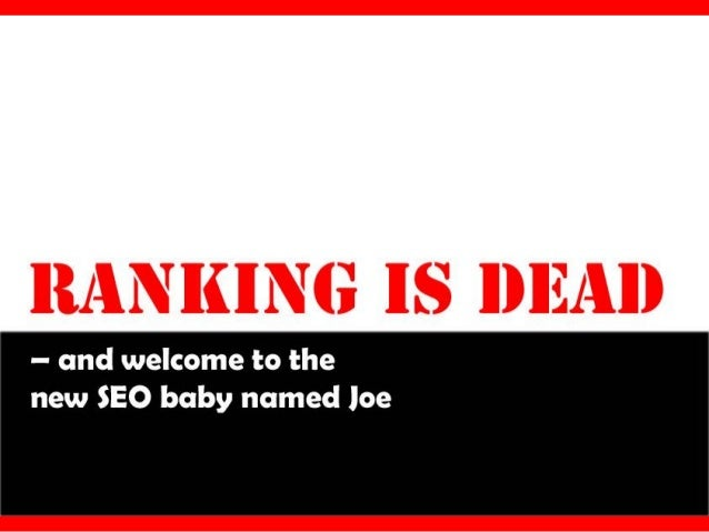 Why ranking is dead?