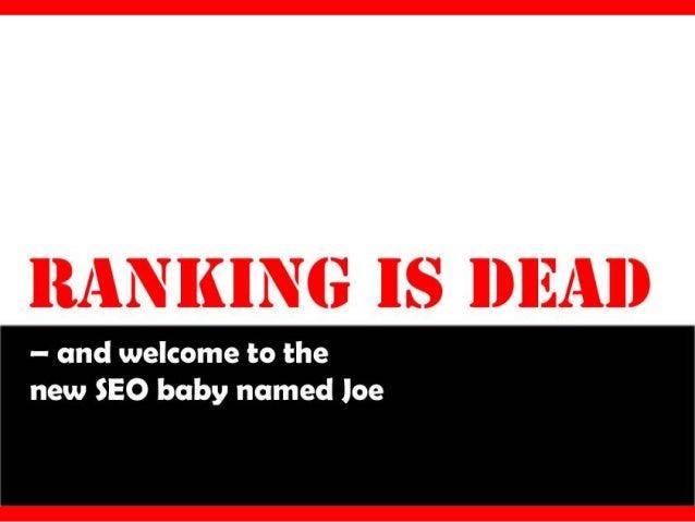 Ranking is Dead