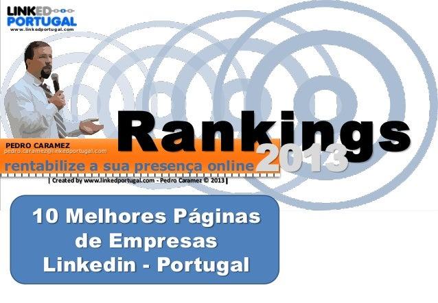 Rankings  10 melhores páginas de empresas - Portugal 2013