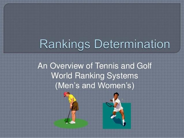 Rankings determination- Golf and Tennis presentation