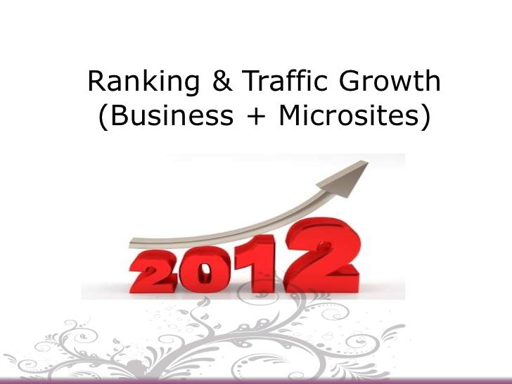 Ranking & Traffic Growth (Business + Microsites)