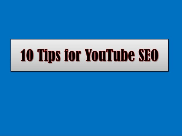 YouTube SEO Secrets 10 Tips To Rank Your Video on YouTube