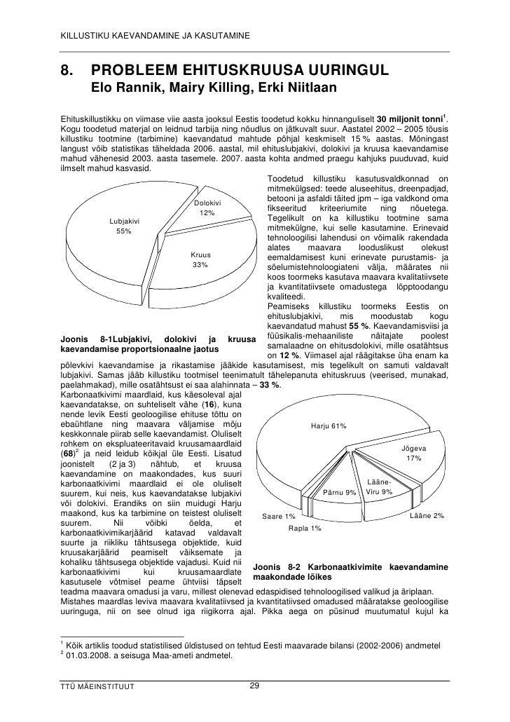 KILLUSTIKU KAEVANDAMINE JA KASUTAMINE    8.           PROBLEEM EHITUSKRUUSA UURINGUL              Elo Ra n n ik , Ma ir y ...