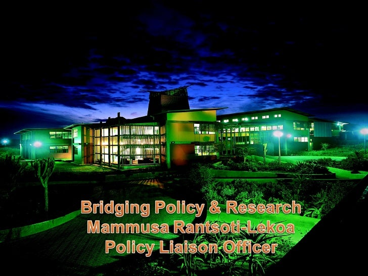Bridging Policy & Research