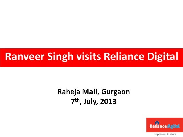Ranveer singh visits reliance digital, gurgaon