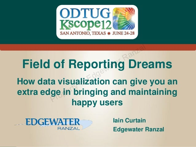Field of Reporting Dreams: Build it and users will come?