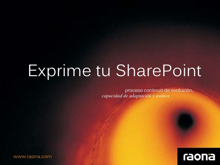 Raona exprime tu SharePoint