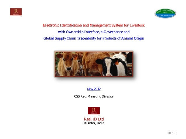 Electronic Identification and Management System for Livestock                    with Ownership Interface, e-Governance an...
