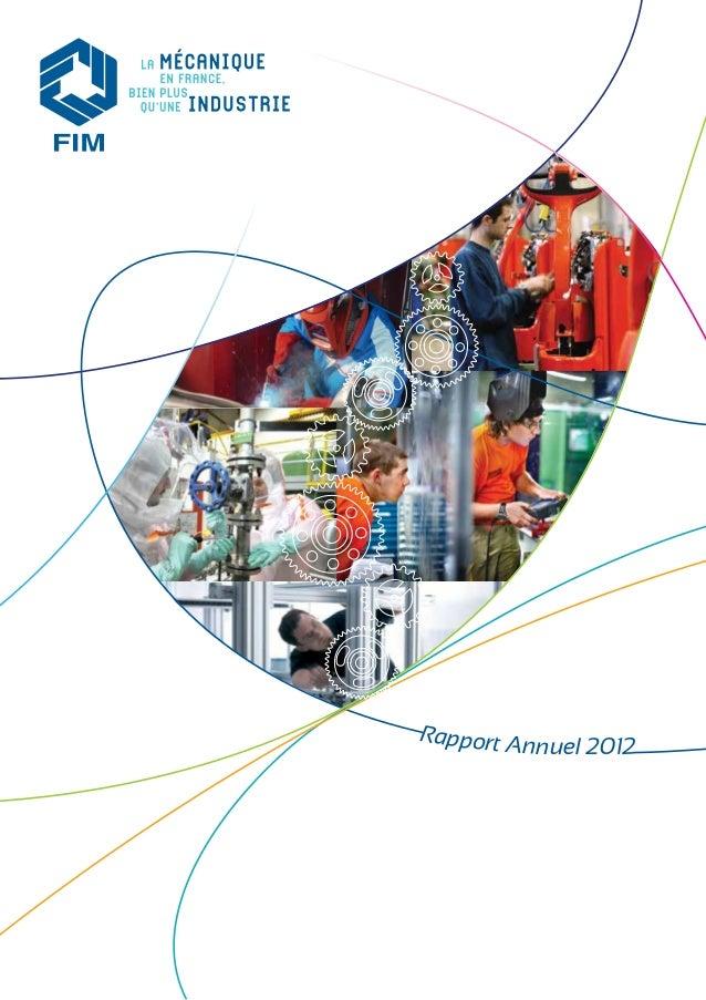 Rapport annuel 2012 de la Fédération des Industries Mécaniques