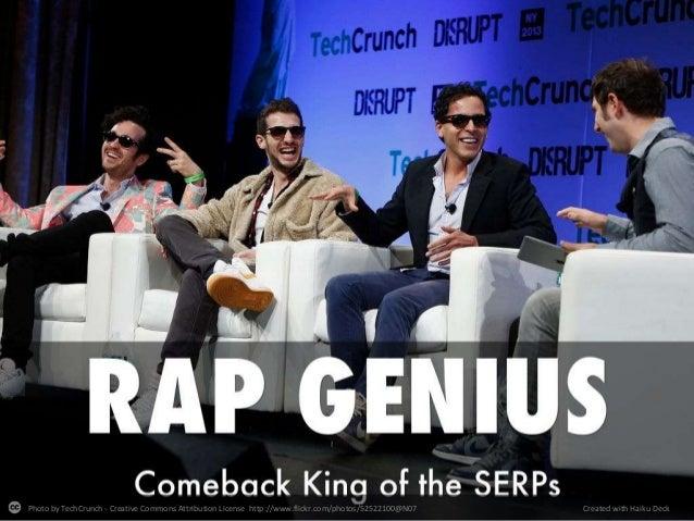Rap Genius - de-indexed to re-indexed in 10 days