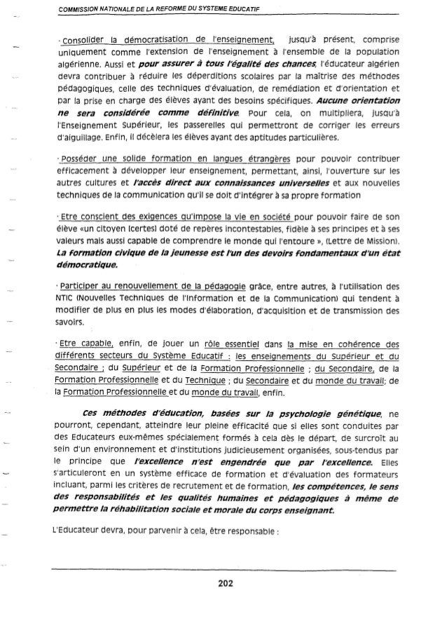 Le rapport de la commission Benzaghou suite 03