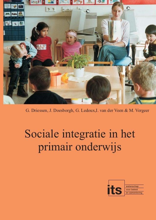 Geert Driessen et al. (2003) Sociale integratie in het primair onderwijs