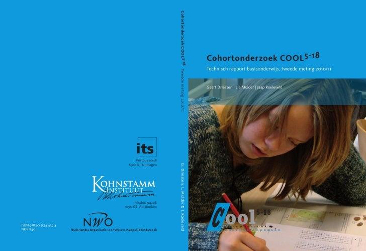Cohortonderzoek Cool 5-18 Tweede meting Geert Driessen et al.