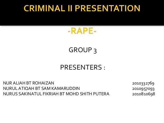 GROUP 3                       PRESENTERS :NUR ALIAH BT ROHAIZAN                          2010332769NURUL ATIQAH BT SAM KAM...