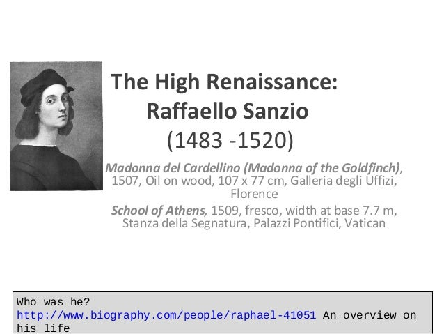 life of raphael sanzio The life and work of raphael sanzio painter and architect.