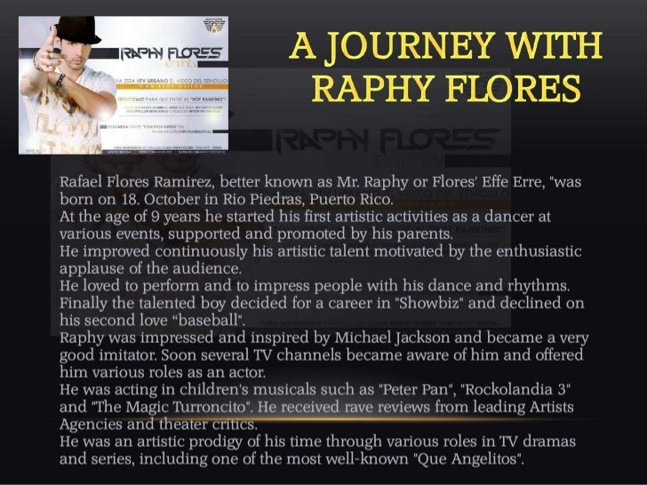 "RAPHY FLORES ""ERRE EFFE"" PICTURE GALLERAY - BIOGRAPHY-MUSIC-INFO`S - ENGL/SPANISH/GERMAN"