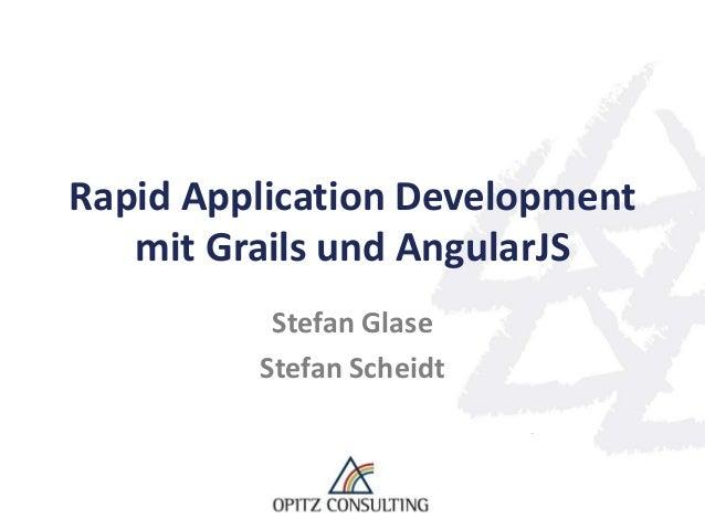 Rapid Application Development mit Grails und AngularJS