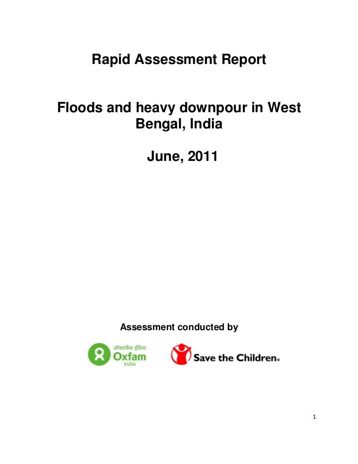 Rapid Assessment ReportFloods and heavy downpour in West           Bengal, India             June, 2011        Assessment ...