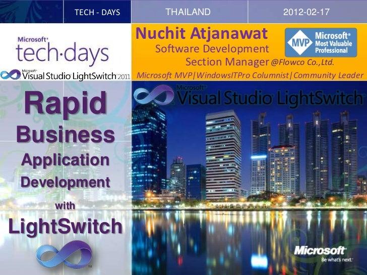 TECH - DAYS         THAILAND                    2012-02-17                      Nuchit Atjanawat                          ...