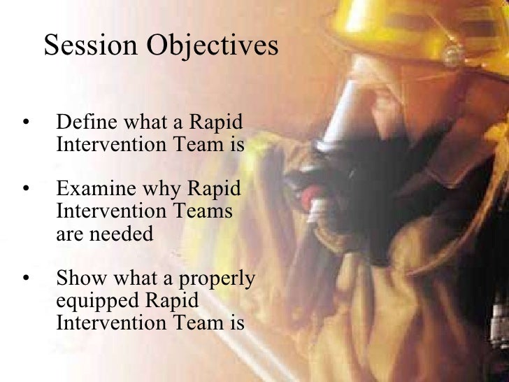 Rapid Intervention Team Ppt a Rapid Intervention Team