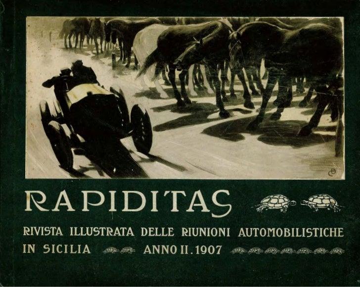 RAPIDITAS_Rivista Illustratadelle Riunioni Automobilistiche in Sicilia 1907