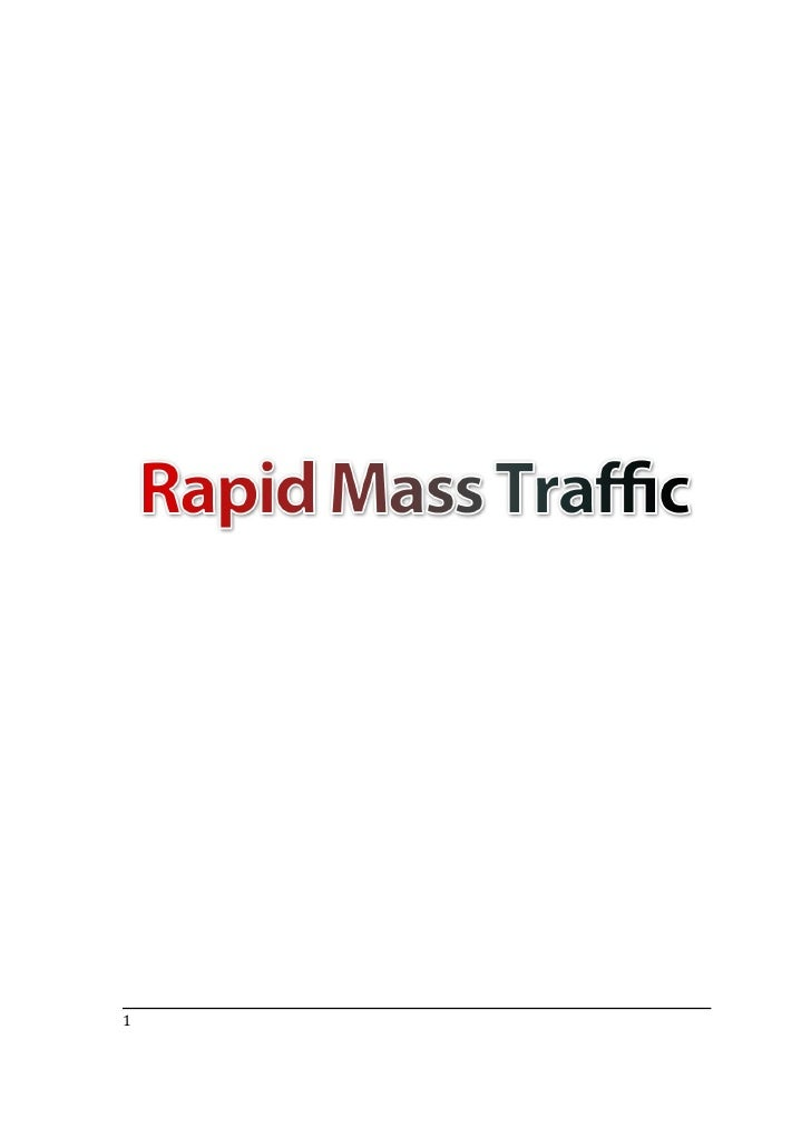 Mass Traffic To Your Site Or Blog