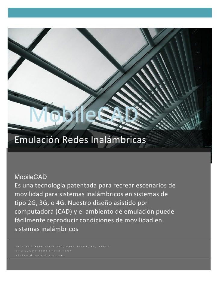 Rapid Mobile Technologies, MobileCAD